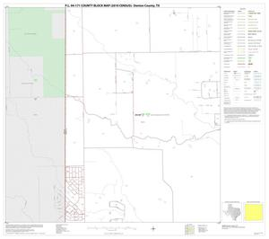 Primary view of object titled 'P.L. 94-171 County Block Map (2010 Census): Denton County, Block 71'.