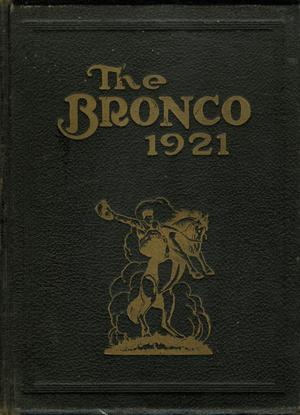 Primary view of object titled 'The Bronco, Yearbook of Simmons College, 1921'.