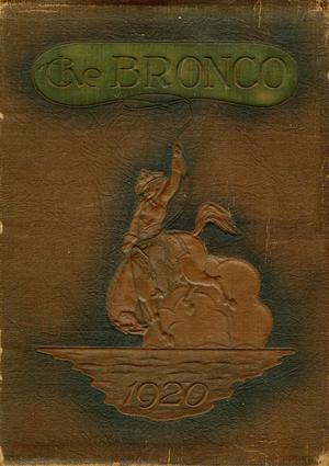 Primary view of object titled 'The Bronco, Yearbook of Simmons College, 1920'.