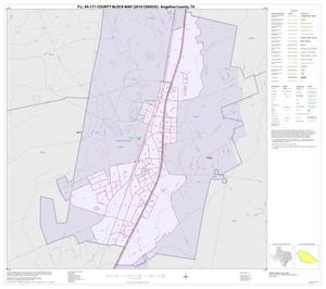 Primary view of object titled 'P.L. 94-171 County Block Map (2010 Census): Angelina County, Inset F01'.