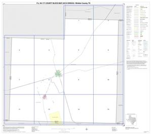 Primary view of object titled 'P.L. 94-171 County Block Map (2010 Census): Winkler County, Index'.