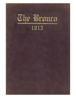 Primary view of object titled 'The Bronco, Yearbook of Simmons College, 1915'.