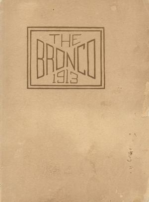 Primary view of object titled 'The Bronco, Yearbook of Simmons College, 1913'.