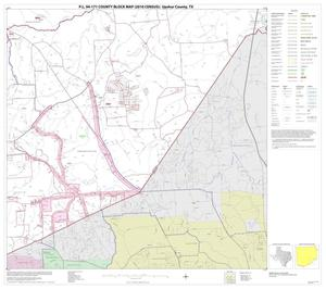 Primary view of object titled 'P.L. 94-171 County Block Map (2010 Census): Upshur County, Block 11'.