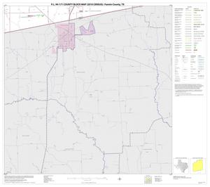 Primary view of object titled 'P.L. 94-171 County Block Map (2010 Census): Fannin County, Block 18'.
