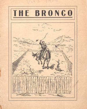 Primary view of object titled 'The Bronco, Yearbook of Simmons College, 1908'.
