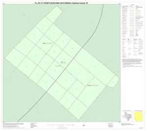 Primary view of object titled 'P.L. 94-171 County Block Map (2010 Census): Kaufman County, Inset H01'.