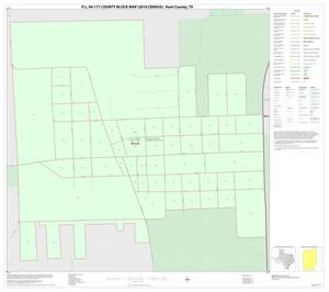 Primary view of object titled 'P.L. 94-171 County Block Map (2010 Census): Hunt County, Inset I01'.