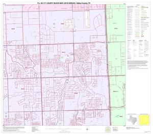Primary view of object titled 'P.L. 94-171 County Block Map (2010 Census): Dallas County, Block 67'.