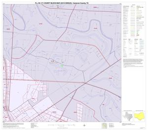 Primary view of object titled 'P.L. 94-171 County Block Map (2010 Census): Cameron County, Inset V02'.