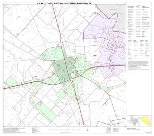 Primary view of object titled 'P.L. 94-171 County Block Map (2010 Census): Austin County, Block 13'.