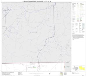 Primary view of object titled 'P.L. 94-171 County Block Map (2010 Census): Kerr County, Block 13'.