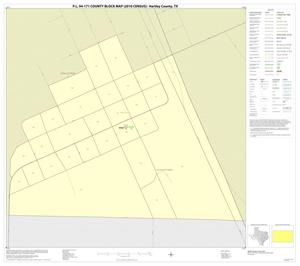 Primary view of object titled 'P.L. 94-171 County Block Map (2010 Census): Hartley County, Inset B01'.