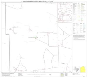 Primary view of object titled 'P.L. 94-171 County Block Map (2010 Census): Jim Hogg County, Block 11'.