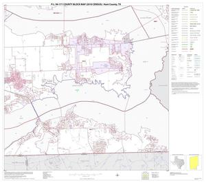 Primary view of object titled 'P.L. 94-171 County Block Map (2010 Census): Hunt County, Block 23'.