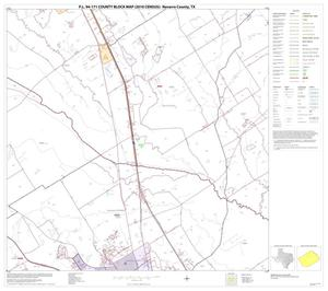 Primary view of object titled 'P.L. 94-171 County Block Map (2010 Census): Navarro County, Block 7'.