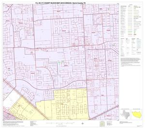 Primary view of object titled 'P.L. 94-171 County Block Map (2010 Census): Harris County, Block 249'.