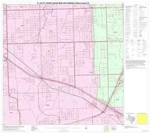 Primary view of object titled 'P.L. 94-171 County Block Map (2010 Census): Dallas County, Block 52'.