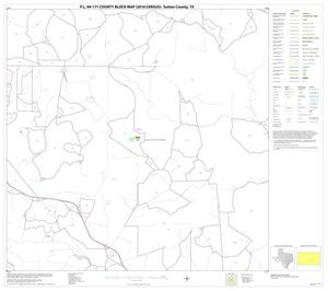 Primary view of object titled 'P.L. 94-171 County Block Map (2010 Census): Sutton County, Block 16'.
