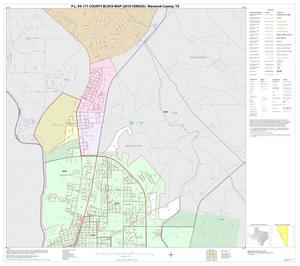 Primary view of object titled 'P.L. 94-171 County Block Map (2010 Census): Maverick County, Inset C01'.