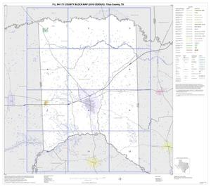 Primary view of object titled 'P.L. 94-171 County Block Map (2010 Census): Titus County, Index'.