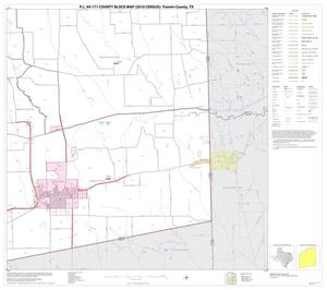 Primary view of object titled 'P.L. 94-171 County Block Map (2010 Census): Fannin County, Block 15'.