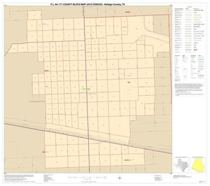 Primary view of object titled 'P.L. 94-171 County Block Map (2010 Census): Hidalgo County, Inset W01'.