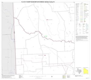 Primary view of object titled 'P.L. 94-171 County Block Map (2010 Census): Red River County, Block 20'.