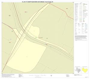 Primary view of object titled 'P.L. 94-171 County Block Map (2010 Census): Travis County, Inset F01'.
