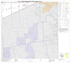 Primary view of object titled 'P.L. 94-171 County Block Map (2010 Census): Waller County, Block 14'.