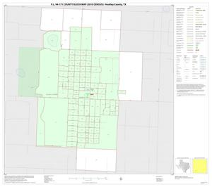 Primary view of object titled 'P.L. 94-171 County Block Map (2010 Census): Hockley County, Inset F01'.