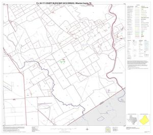 Primary view of object titled 'P.L. 94-171 County Block Map (2010 Census): Wharton County, Block 33'.