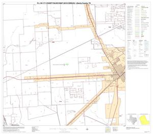 Primary view of object titled 'P.L. 94-171 County Block Map (2010 Census): Liberty County, Block 15'.