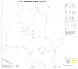 Primary view of object titled 'P.L. 94-171 County Block Map (2010 Census): Sutton County, Block 11'.