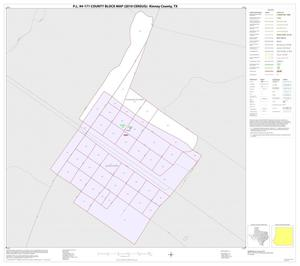 Primary view of object titled 'P.L. 94-171 County Block Map (2010 Census): Kinney County, Inset C01'.