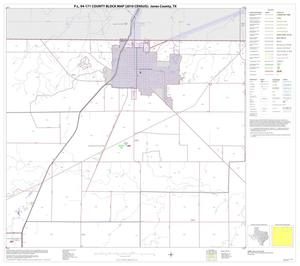 Primary view of object titled 'P.L. 94-171 County Block Map (2010 Census): Jones County, Block 3'.