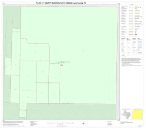 Primary view of object titled 'P.L. 94-171 County Block Map (2010 Census): Lynn County, Inset A01'.