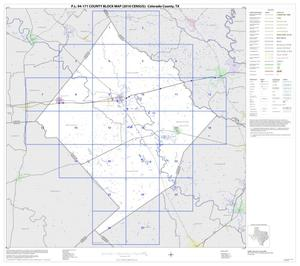 Primary view of object titled 'P.L. 94-171 County Block Map (2010 Census): Colorado County, Index'.