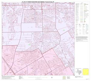 Primary view of object titled 'P.L. 94-171 County Block Map (2010 Census): Tarrant County, Block 55'.