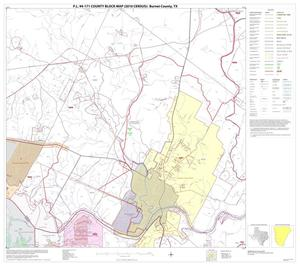Primary view of object titled 'P.L. 94-171 County Block Map (2010 Census): Burnet County, Block 16'.