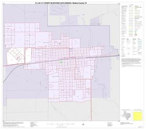 Primary view of object titled 'P.L. 94-171 County Block Map (2010 Census): Medina County, Inset B01'.
