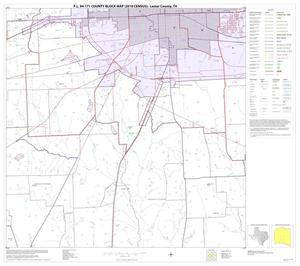 Primary view of object titled 'P.L. 94-171 County Block Map (2010 Census): Lamar County, Block 17'.
