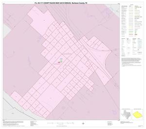 Primary view of object titled 'P.L. 94-171 County Block Map (2010 Census): Burleson County, Inset B01'.
