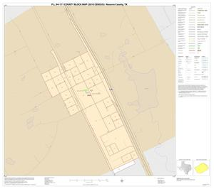 Primary view of object titled 'P.L. 94-171 County Block Map (2010 Census): Navarro County, Inset A01'.