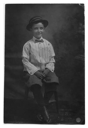 Primary view of object titled 'James Merida Ellis as a Young Boy'.