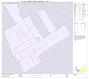 Primary view of object titled 'P.L. 94-171 County Block Map (2010 Census): Falls County, Inset A01'.