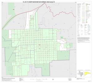 Primary view of object titled 'P.L. 94-171 County Block Map (2010 Census): Delta County, Inset B01'.