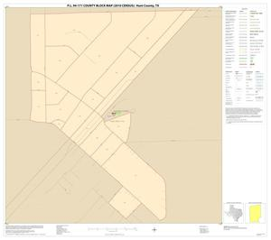 Primary view of object titled 'P.L. 94-171 County Block Map (2010 Census): Hunt County, Inset F01'.