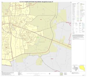 Primary view of object titled 'P.L. 94-171 County Block Map (2010 Census): Nacogdoches County, Inset B03'.
