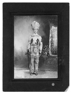 Primary view of object titled 'B.Y. Sawyer in a Native American Costume'.